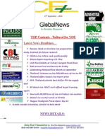 15th September,2014 Daily Global Rice E-newsletter by Riceplus Magazine