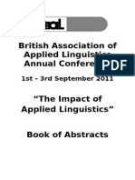 BAAL 2011 Book of Abstracts