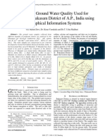 A Study on Ground Water Quality Used for Irrigation in Prakasam District of A.P, India using Geographical Information Systems