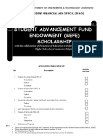 Application Form SAEF