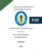 Silabus ginecología 2014