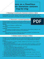 Step by Step Systematic Literature Reviews
