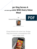Howard Davidson Arlington Massachusetts - Burger King Serves a Smartphone With Every Value Meal