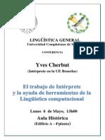 Conferencia Yves Cherbut 6 Mayo 2013
