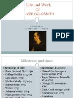 Life and  Work of Oliver Goldsmith, Irish poet and writer