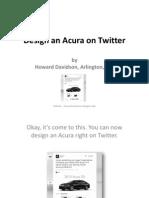 Howard Davidson Arlington Massachusetts - Design an Acura on Twitter