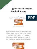 Howard Davidson Arlington Massachusetts - Jell-O Jigglers Just in Time for Football Season