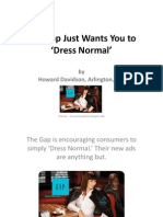 Howard Davidson Arlington Massachusetts - The Gap Just Wants You to 'Dress Normal'