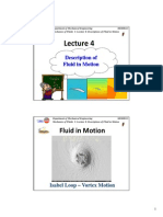 Description of Fluid in Motion
