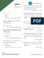 Spm Practice Add Maths Quadratic Equations