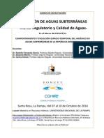 """Curso de capacitación """"Captación de Aguas Subterráneas. Marco Regulatorio y Calidad de Aguas"""""""