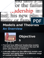 Leadership - Models and Theories - An Overview