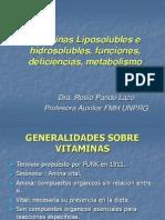 Clase 1 Vitaminas Liposolubles e Hidrosolubles, Funciones, Deficiencias