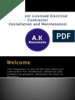 Industrial Electrical Contractors in West Bengal