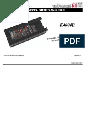 200W Power Amplifier TDA1514A | Amplifier | Loudspeaker