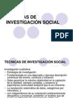Tecnicas de Investigacion Social