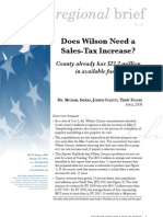 Does Wilson need a sales tax increase?