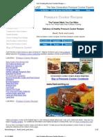 Pressure Cooker Meat Recipes
