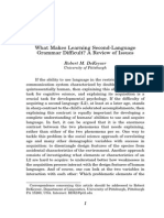 What Makes Learning Second Language Grammar Difficult a Review of Issues DeKeyser 2005