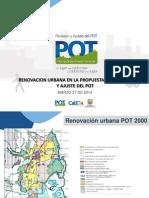 Presentacin Planeacin Municipal - Renovacion Urbana en El Pot