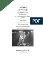Lynyrd Skynyrd - Allen Collins Equipment History