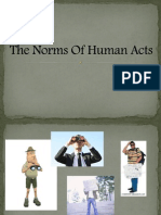 The Norms Of Human Acts
