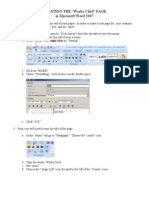 how to create a works cited page in microsoft word