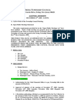 2009-12-14 Council Agenda Session
