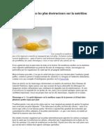 Les Dix Mensonges Les Plus Destructeurs Sur La Nutrition