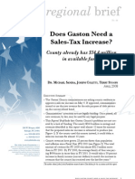 Does Gaston need a sales tax increase?