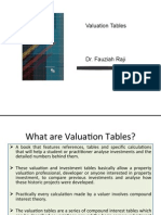Valuation Tables