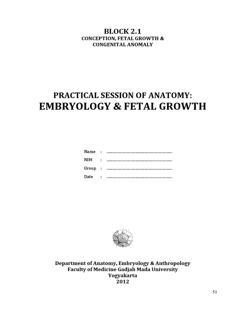 Practical Session of Anatomy - Embryology Fetal Growth | Fetus ...