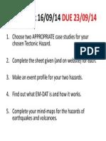 homework  event profiling