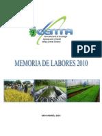 Memoria Labores 2010