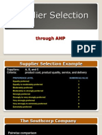 2.2 Supplier Selection AHP
