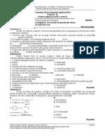 141210748 Proba E d Chimie Organica Niv I II Filiera Teoretica 2009 100 Variante Sub 1 2 3 Chimie Organica Si Anorganica