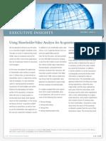 Share Holder Value Analysis for Acq