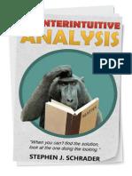 Counterintuitive Analysis by Stephen J. Schrader