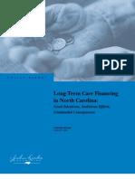 Long-Term Care Financing in North Carolina