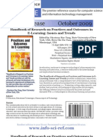Handbook of Research on Practices and Outcomes in E-Learning