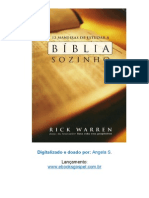 12 Maneiras de Estudar a Biblia Sozinho - Rick Warren