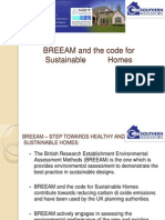 BREEAM and the Code for Sustainable Homes