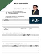 Formato de CV Docente 2014 PS