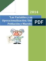Variables y Su Operacionalización Muestra