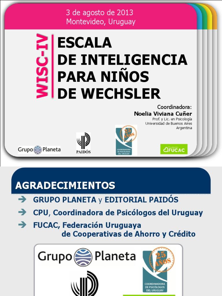 20130926 WISC-IV Presentacion Noelia Cuner