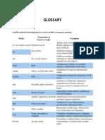 Anatomy Glossary