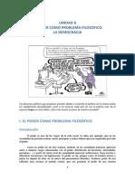 Unidad 8 El Poder Como Problema Filosofico La Democracia 2013-14