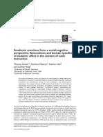 2006 Academic Emotions From a Social-cognitive Perspective. Ec Estructurales