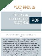 Basic Values of Filipino