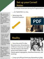 WEBNotes - Day 5 - 2014 - AfricanAmerican - ProgressiveEra